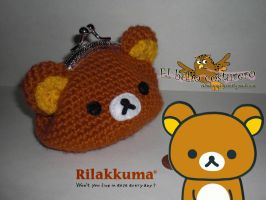 Crocheted Rilakkuma coin purse by elbuhocosturero