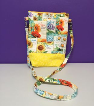 Flowers and Seed Packs Quilted Bag by DoodleBugCreations