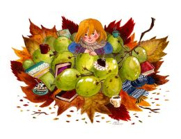 Autumn Grapes by frecklednose124