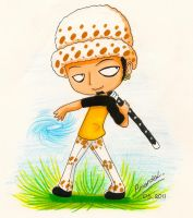 One Piece: Chibi Trafalgar Law by aaamaaa