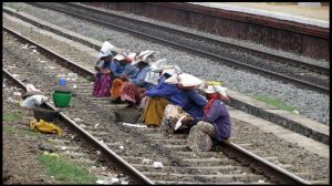 workers at rail track by artsrajesh