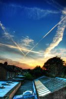 west london late summer skies by cheechwizard