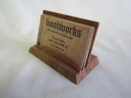 Maple burl buisness card stand by DMSscroller