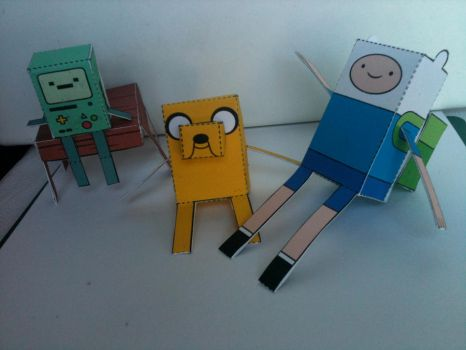 Adventure Time Papercraft by spacemonkeysunited
