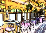 Nederland Train Cafe (artified photo) by darenw
