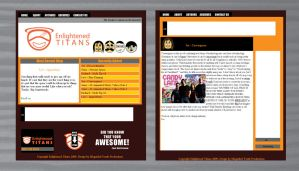 Enlightened Titans Web layout by genecapone