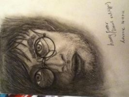 Harry Potter charcoal drawing by pegasuslolly
