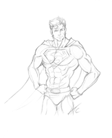 Superman by Scribbletati