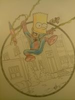 Spidey Bart by TRACER70