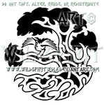 Tree Of Life And Crane Knotwork Design by WildSpiritWolf
