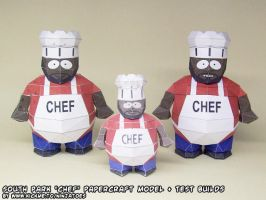 Papercraft South Park Chef test builds by ninjatoespapercraft