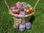 A Basket of Hootlets by FearlessFibreArts