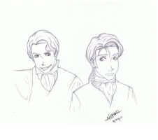 Lestat and Louis by DevminGlening