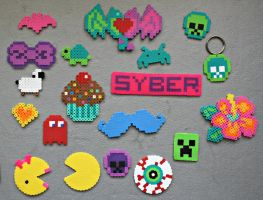 Perler Beads. Yay! by syberklaw