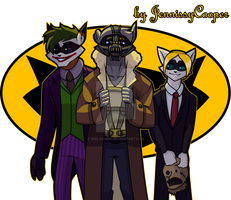 BatCoon villains by JennissyCooper