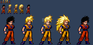 JUSr: Futue Gohan (Armless) all forms by SuperShadiw1010