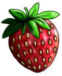 Strawberry paint tool sai test by Indiana-Chems