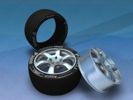 Rims and Tires in Cinema 4D by ragingpixels