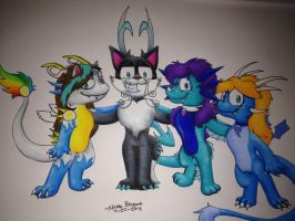 Cobalt and Friends by CobaltTheFox