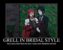 Grell in Bridal Style by yami200