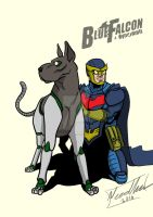 Ultimate Blue Falcon and Dynomutt by Needham-Comics