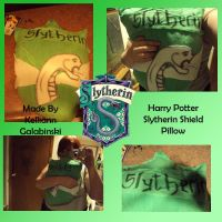 Harry Potter Slytherin Pillow by CupcakeCrafty