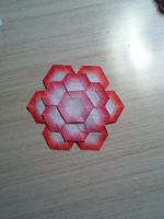 Pink Flower Tessalation by origami999