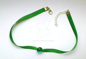 May Green Crystal collar by Sasha-Raskolnikova