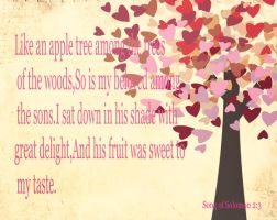 Song of Solomon 2:3 by mercyrains