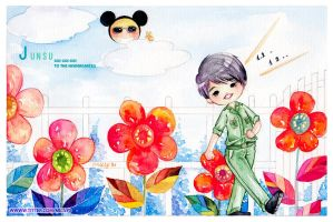 Junchan go to the Kindergarter by ThuyAn