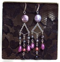 Chain Chandelier Earrings by ACrowsCollection