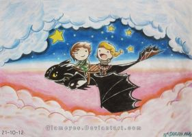 Romantic Flight : How to Train your Dragon by Glameyes