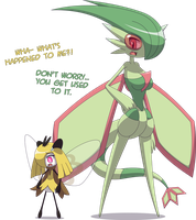 Flygon Veronica + Ribombee Carol [Commission] by Zacatron94