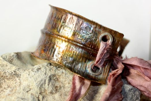 Anticlastic Foldformed Copper Cuff by Ironmountain01