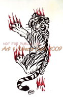 White Tiger Tattoo Commission by InsaneRoman
