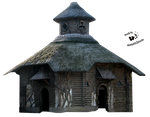 Cut-out stock PNG 43 - wooden house by Momotte2stocks