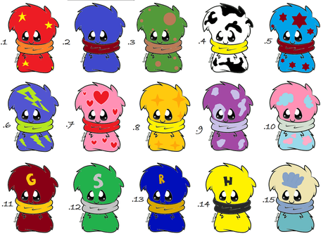 Scarfblob Adopts! by Shaddowluva