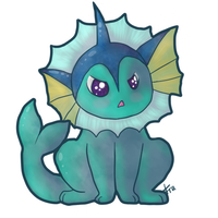 Vaporeon by breeozoa
