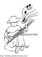 Socorro Fest Logo Commission by HirokuYamisuki