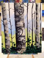Birch Trees by MikeHowland
