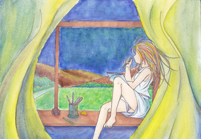 Looking Out A Window by SuperFann