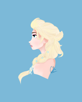 Elsa Frozen by CaeciliAndita