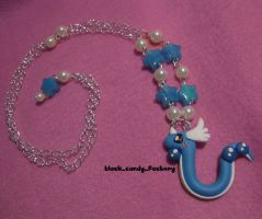 Blushing lovely dragonair necklace by gothic-yuna