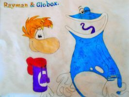 Rayman and Globox by Lilly12345ty