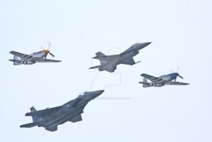P51D P51C F-15 F-16 formation2 by hyperactive122986