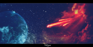 Meteorite on Space by TinoxPL