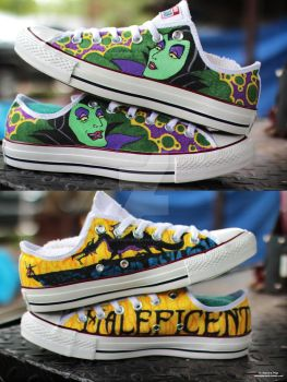 Maleficent Converse by DecemberBellz