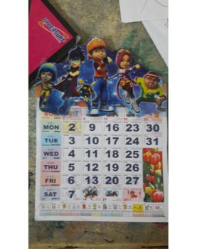 My calendar in this year is Boboiboy Galaxy!! by AngelSKKSS