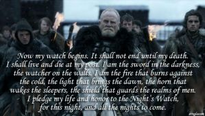 Pledge of the Night's Watch by stinglacson