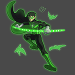 Commission - Green Lantern Robin by KingKaijuice